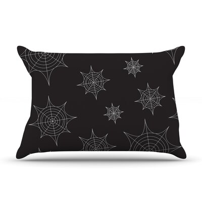 Mini Webs Pillow Case Color: Black