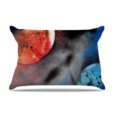 Infinite Spray Art Sun Vs. Moon Planet Pillow Case