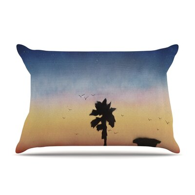 Infinite Spray Art Carlsbad Sunset Coastal Painting Pillow Case