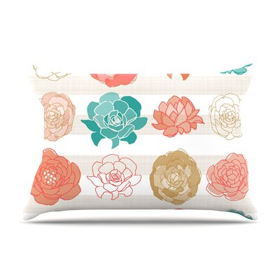 Pellerina Design Flower Square Floral Pillow Case