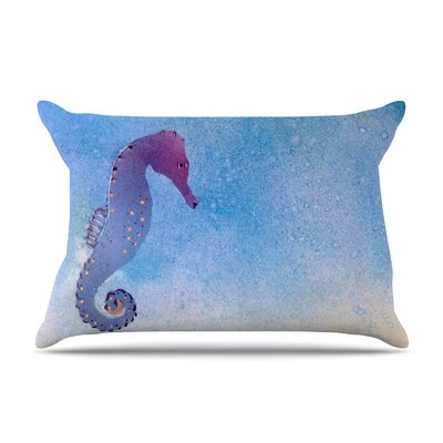 Infinite Spray Art Seahorse Painting Pillow Case