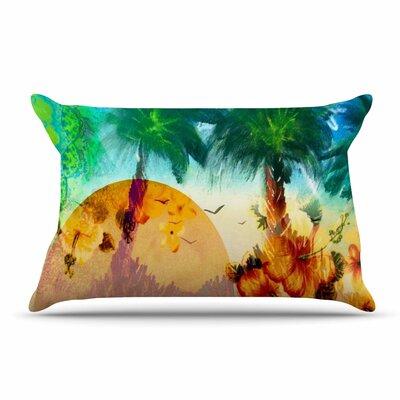 Infinite Spray Art Paradise s Pillow Case