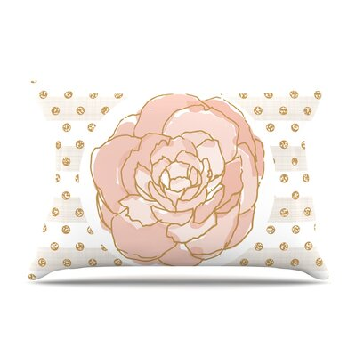Pellerina Design Watercolor Peony Floral Pillow Case