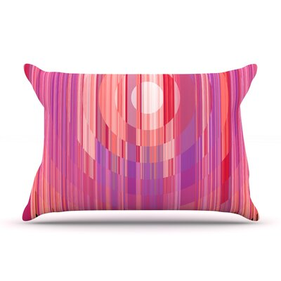Nina May Mohave Sun Geometric Pillow Case Color: Pink