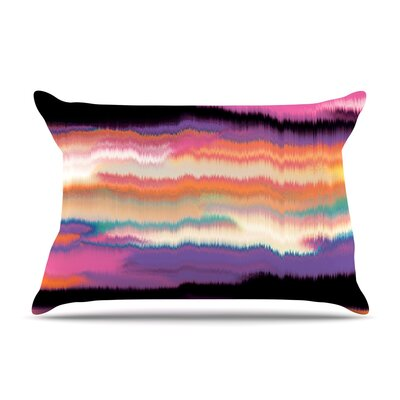 Nina May Artika Pillow Case Color: Purple/Orange