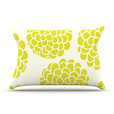 Pom Graphic Design Grape Blossoms Circles Pillow Case Color: Yellow