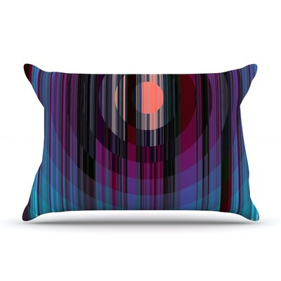Nina May Mohave Sun Geometric Pillow Case Color: Blue