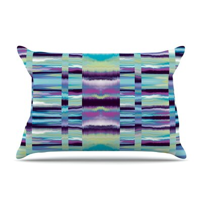 Nina May Samanna Coral Tribal Pillow Case Color: Blue Tribal