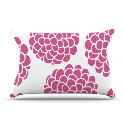 Pom Graphic Design Grape Blossoms Circles Pillow Case Color: Magenta Pink