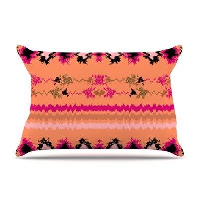 Nina May Peachy Nava Tribal Pillow Case Color: Orange Tribal