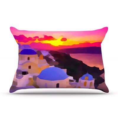 Oriana Cordero My Konos Sunset Pillow Case