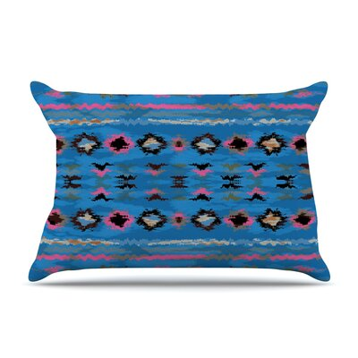 Nina May Navano Tribal Pillow Case Color: Blue