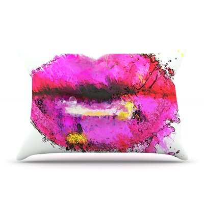 Oriana Cordero Kiss Me Lips Pillow Case