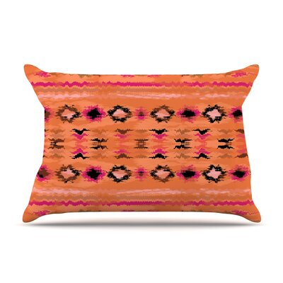 Nina May Navano Tribal Pillow Case Color: Orange