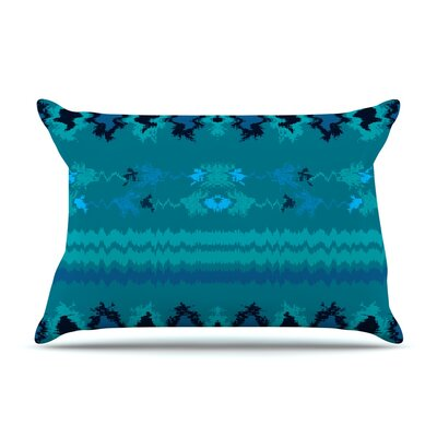 Nina May Peachy Nava Tribal Pillow Case Color: Teal Tribal
