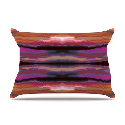 Nina May Sola Color Pillow Case Color: Pink/Orange