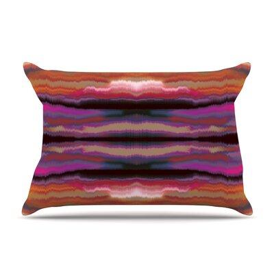 Nina May Sola Color Pillow Case Color: Pink/Orange
