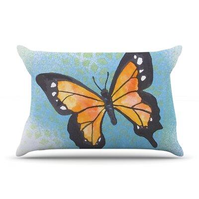 Padgett Mason Summer Flutter Pillow Case Color: Blue/Orange