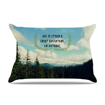 Robin Dickinson Life Is... Landscape Typography Pillow Case