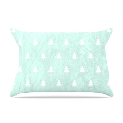 Snap Studio Pine Pillow Case Color: Aqua/Blue