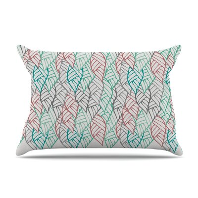Pom Graphic Design Ethnic Leaves Pillow Case
