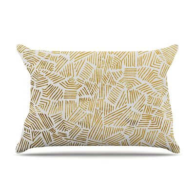Pom Graphic Design Inca Gold Trail Pillow Case Color: Yellow/Brown