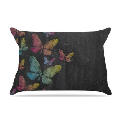 Snap Studio Butterflies Pastel Chalk Pillow Case Color: Pastel Chalk