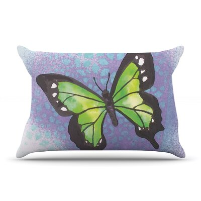 Padgett Mason Summer Flutter Pillow Case Color: Purple/Green