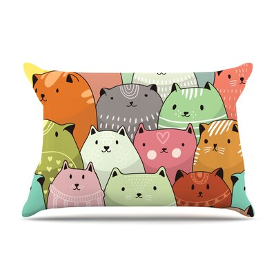 Snap Studio Kitty Attack Cat Illustration Pillow Case