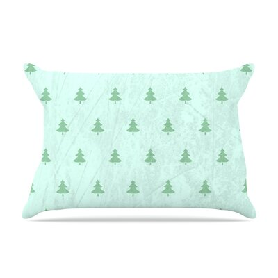 Snap Studio Pine Pillow Case Color: Green/Teal
