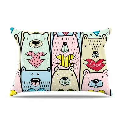 Snap Studio Bear Hugs Animal Illustration Pillow Case