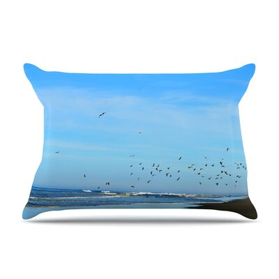Robin Dickinson Beach Hair Coastal Pillow Case