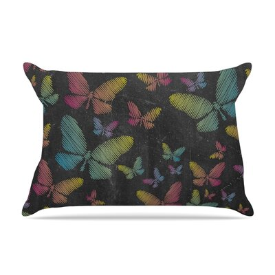 Snap Studio Butterflies Ii Pastel Chalk Pillow Case Color: Pastel Chalk