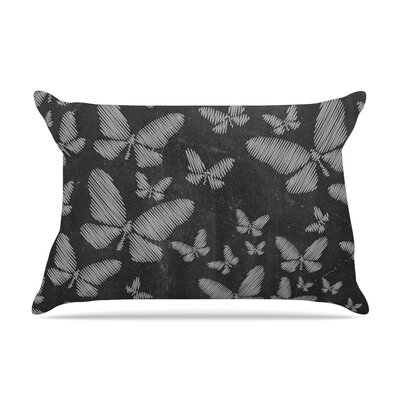 Snap Studio Butterflies Ii Pastel Chalk Pillow Case Color: White Chalk