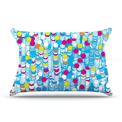 Frederic Levy-Hadida Color Hiving Abstract Pillow Case Color: Blue