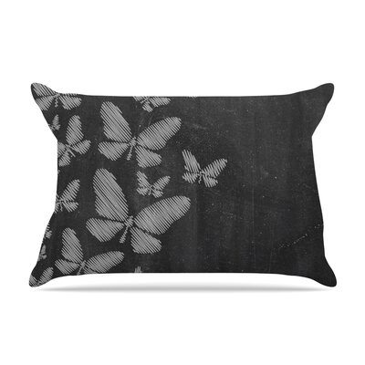 Snap Studio Butterflies Pastel Chalk Pillow Case Color: White Chalk