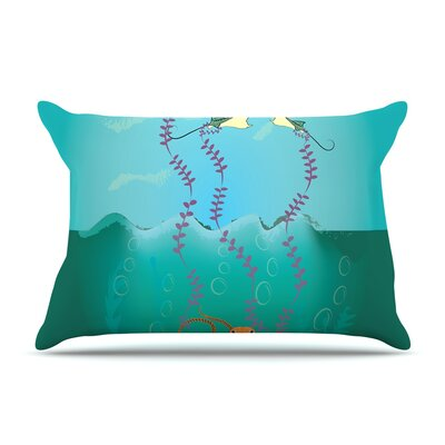 Famenxt Octopus Flying Manta Rays Pillow Case