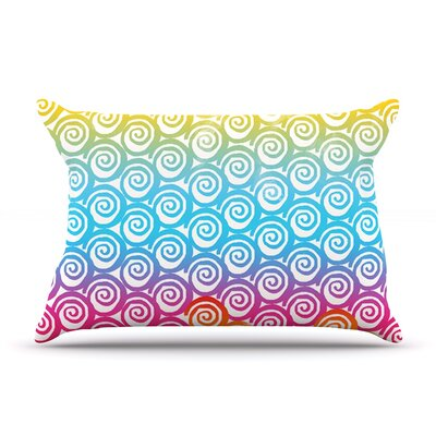 Frederic Levy-Hadida Ethnic Spirals Rainbow Pillow Case