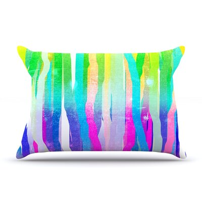 Frederic Levy-Hadida Jungle Stripes Painting Pillow Case Color: Purple/Pink
