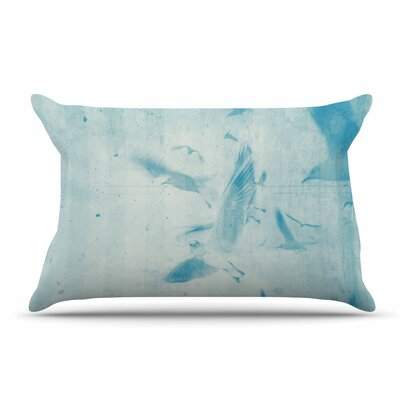Frederic Levy-Hadida Them Birds - Blue Pillow Case