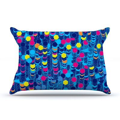 Frederic Levy-Hadida Color Hiving Abstract Pillow Case Color: Navy Blue