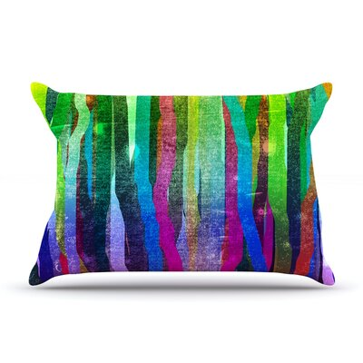 Frederic Levy-Hadida Jungle Stripes Painting Pillow Case Color: Green
