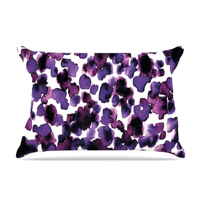 Ebi Emporium Giraffe Spots Pillow Case Color: Purple/Lavender