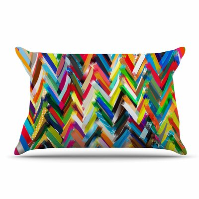 Frederic Levy-Hadida Chevrons Rainbow Pillow Case