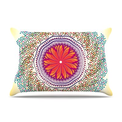 Famenxt Confetti Dots Mandala Abstract Pillow Case