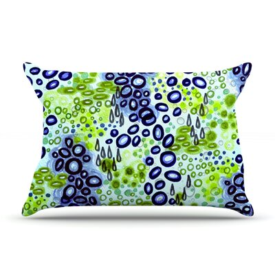 Ebi Emporium Circular Persuasian Pillow Case Color: Blue/Green