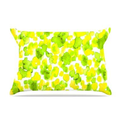 Ebi Emporium Giraffe Spots Pillow Case Color: Lemon Lime/Green/Yellow