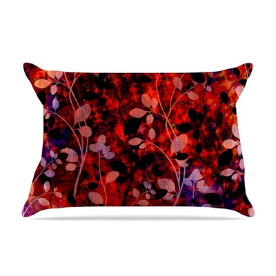 Ebi Emporium Amongst The Flowers - Warm Sunset Pillow Case Color: Red/Black