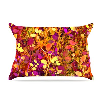 Ebi Emporium Amongst The Flowers - Warm Sunset Pillow Case Color: Pink/Orange