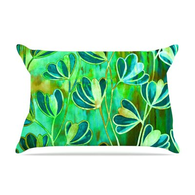 Ebi Emporium Effloresence Pillow Case Color: Blue/Green